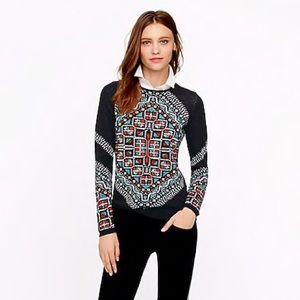 👗 J crew merino knotted scarf wool sweater 06825